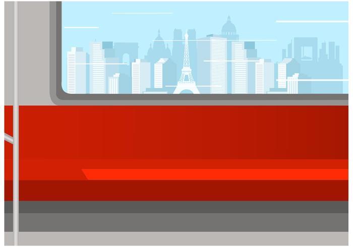 Interior libre del vector del metro
