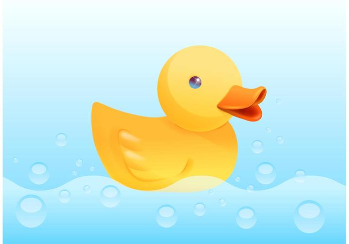 Free Yellow Rubber Duck Vector