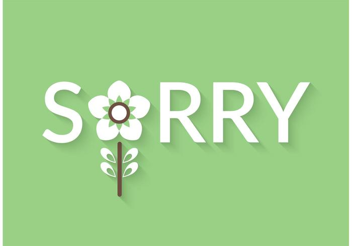 Free Sorry Vector Lettering