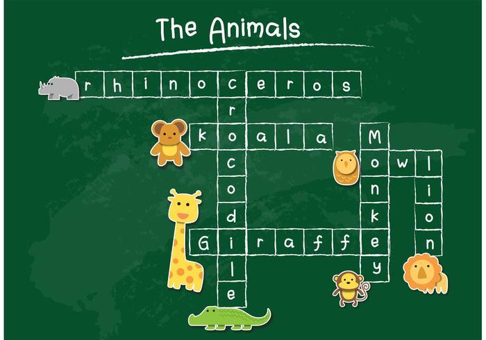 Chalkboard Vector Crossword