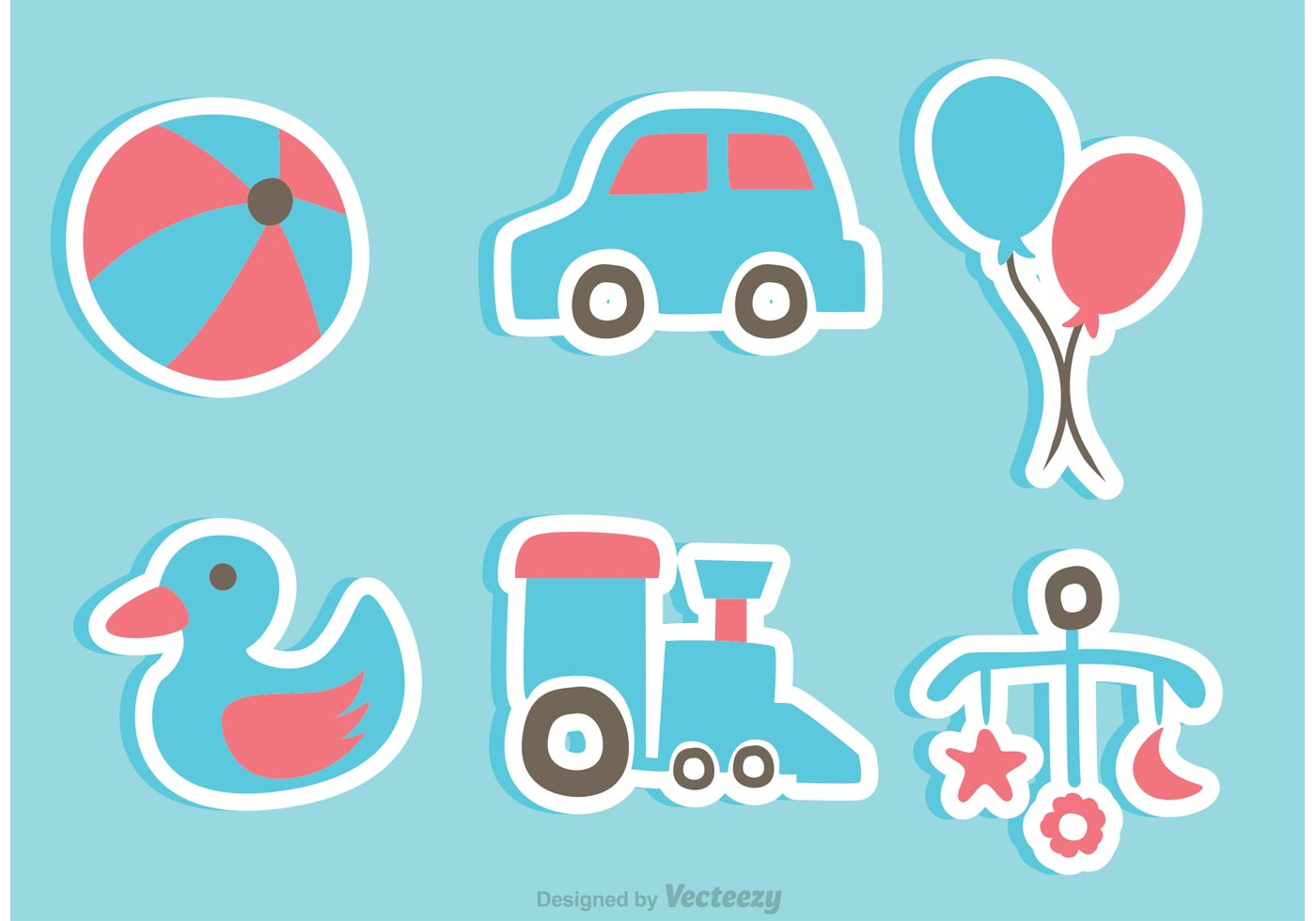 baby toys sticker icons download free vector art stock