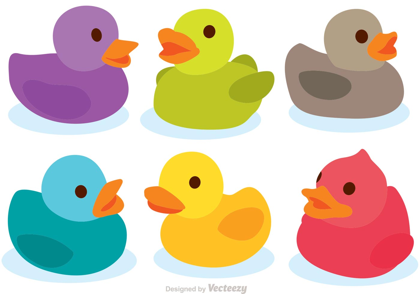 Colorful Rubber Duck Vectors - Download Free Vector Art, Stock Graphics & Images