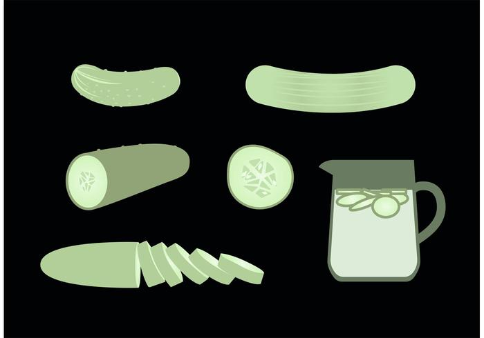 Conjunto de vetores grátis de pepino