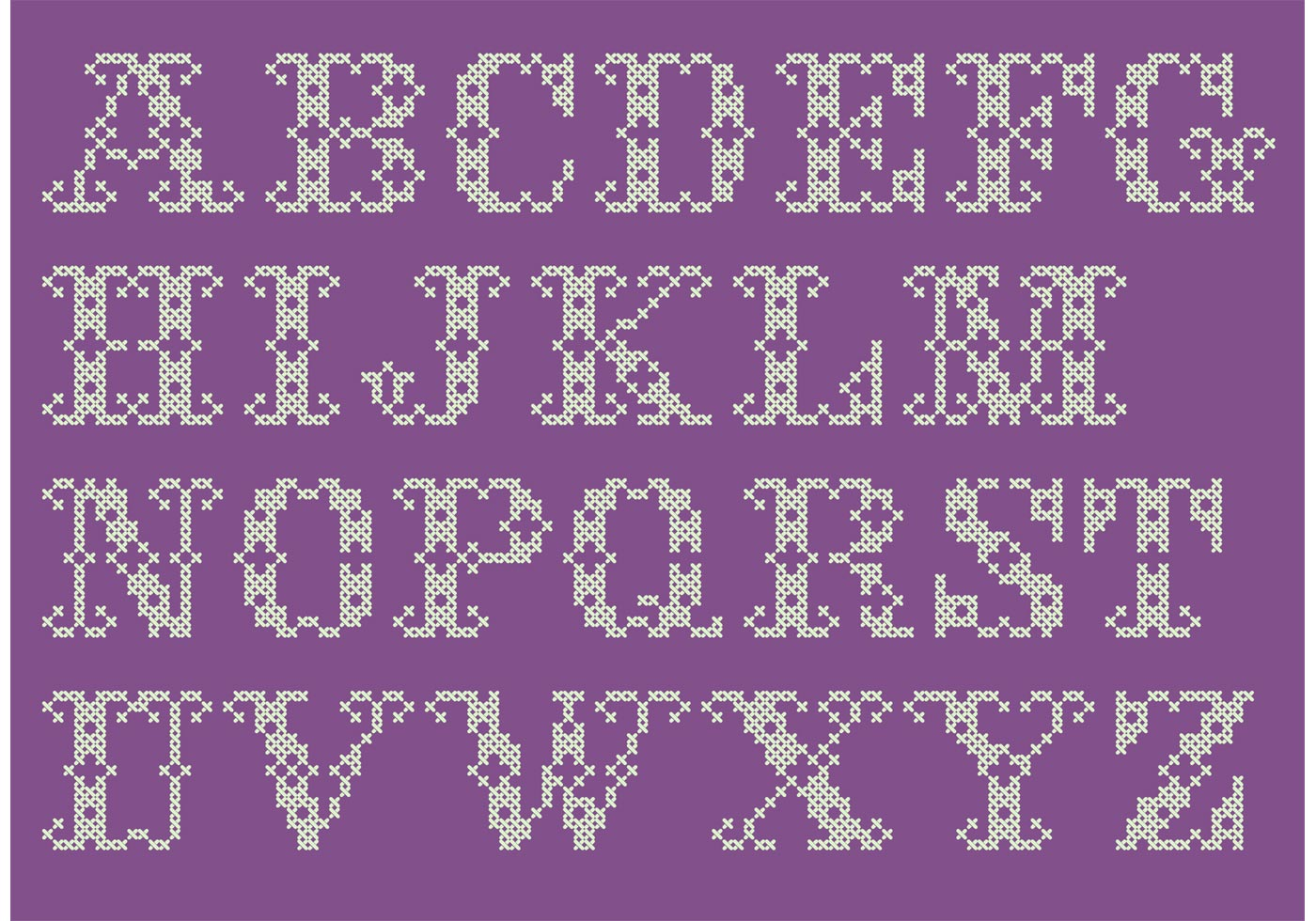 Cross Stitch Alphabet Patterns Interesting Design Inspiration