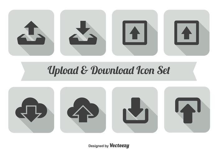 Upload and Download Icon Set