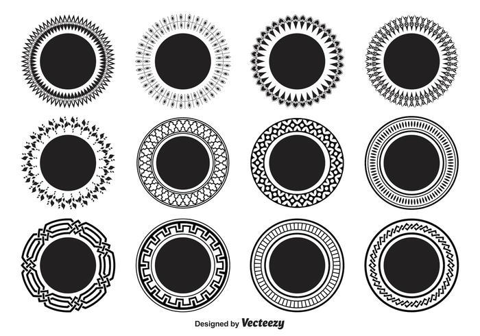 Formas decorativas del círculo
