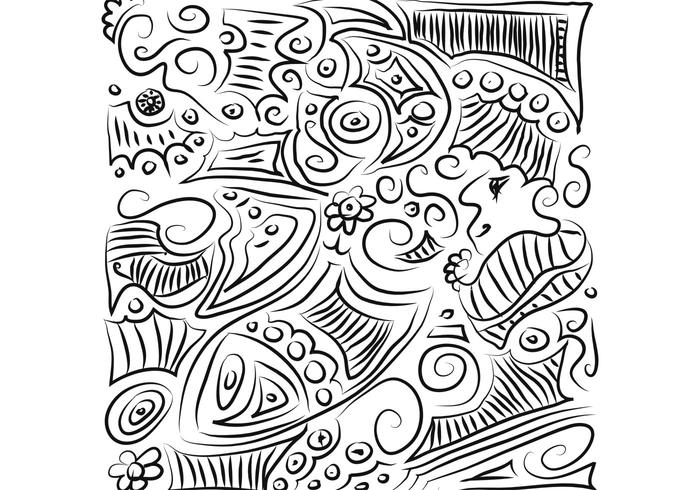 Five Free Hand Drawn Vector Patterns