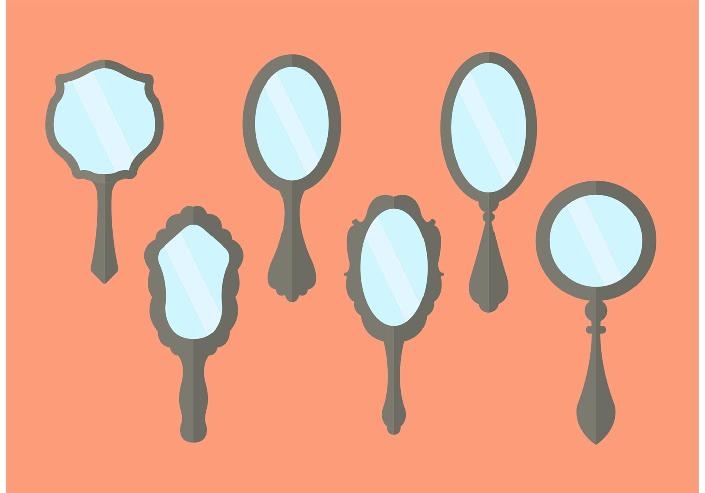 Images For Antique Hand Mirror Vector