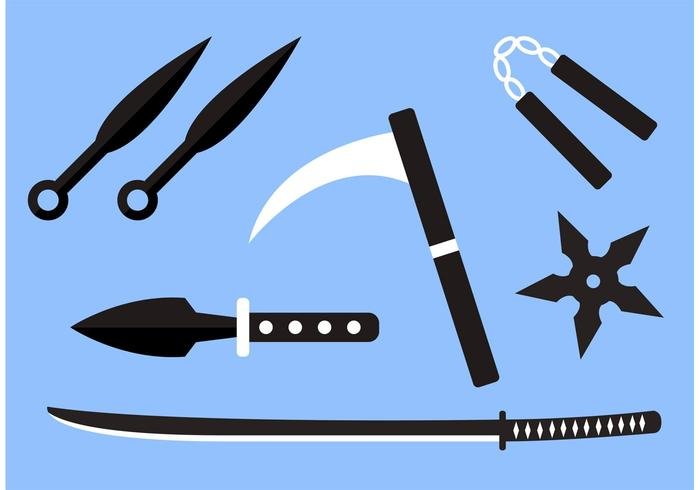 Ninja Weapon Vectors