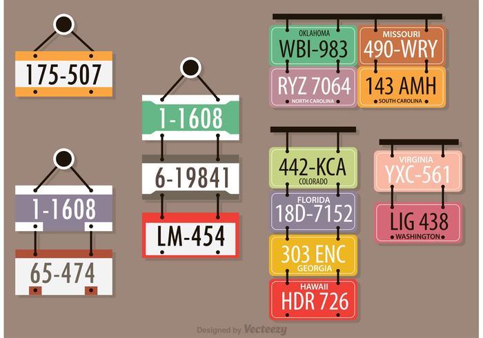 License Plates Vectors