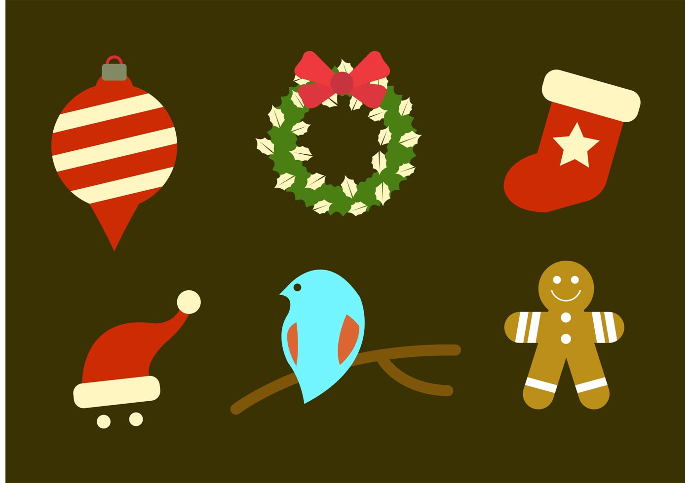 Simple christmas vector icons download free vector art for Minimalist christmas