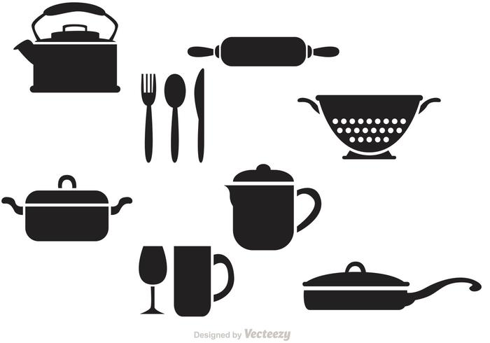 Black Vintage Kitchen Vectors