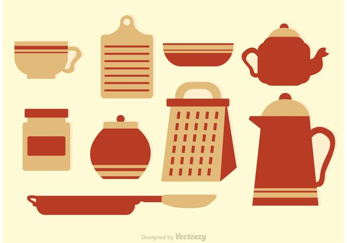 Vintage Kitchen Vector Icons