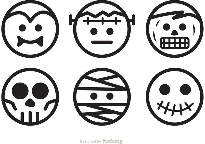 Halloween Charaktere Vektoren