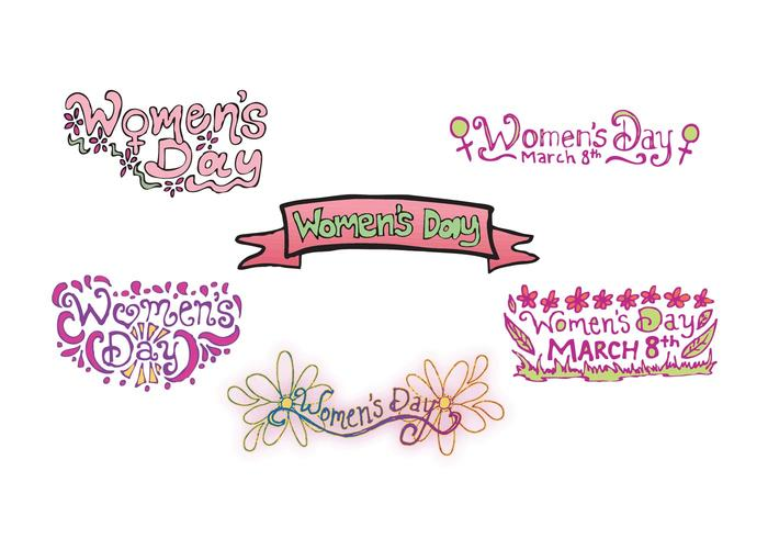 Free Women's Day Vector Series