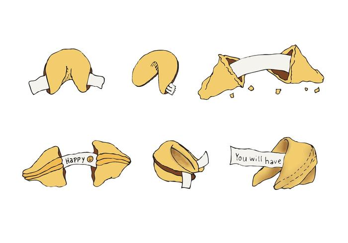 Free Fortune Cookie Vector Series