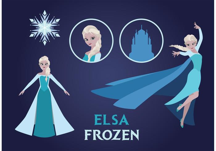 Elsa Frozen Vector Pack