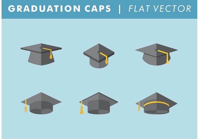 Graduation Caps Vector