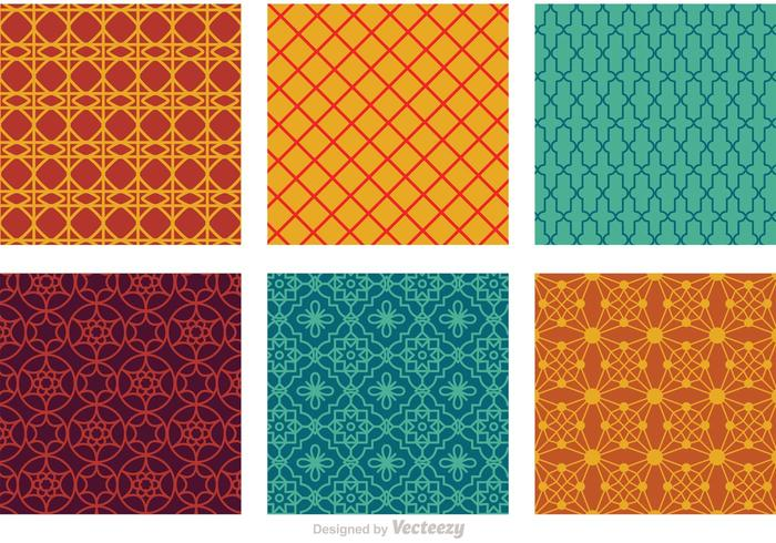 Marocko Seamless Vector Patterns