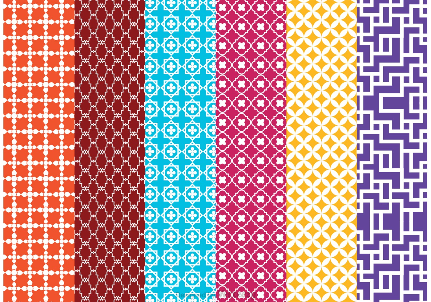 Morocco Vector Pattern Pack - Download Free Vector Art, Stock Graphics ...