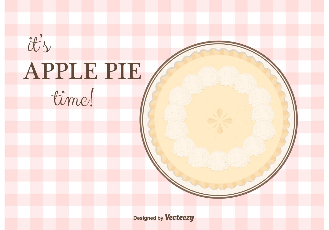 Apple Pie Vector Background Download Free Vector Art