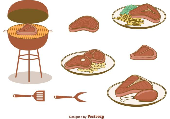 Free T Bone Steak Vectors