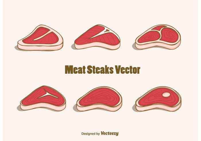 Free Meat Steaks Vector