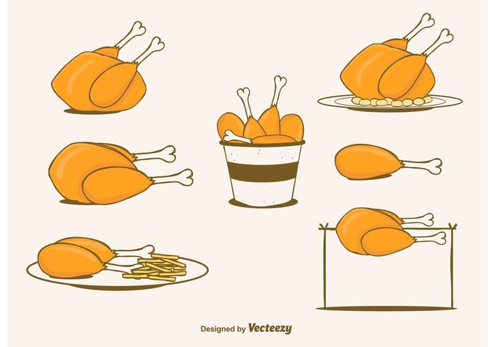 Free Vector Chicken Set