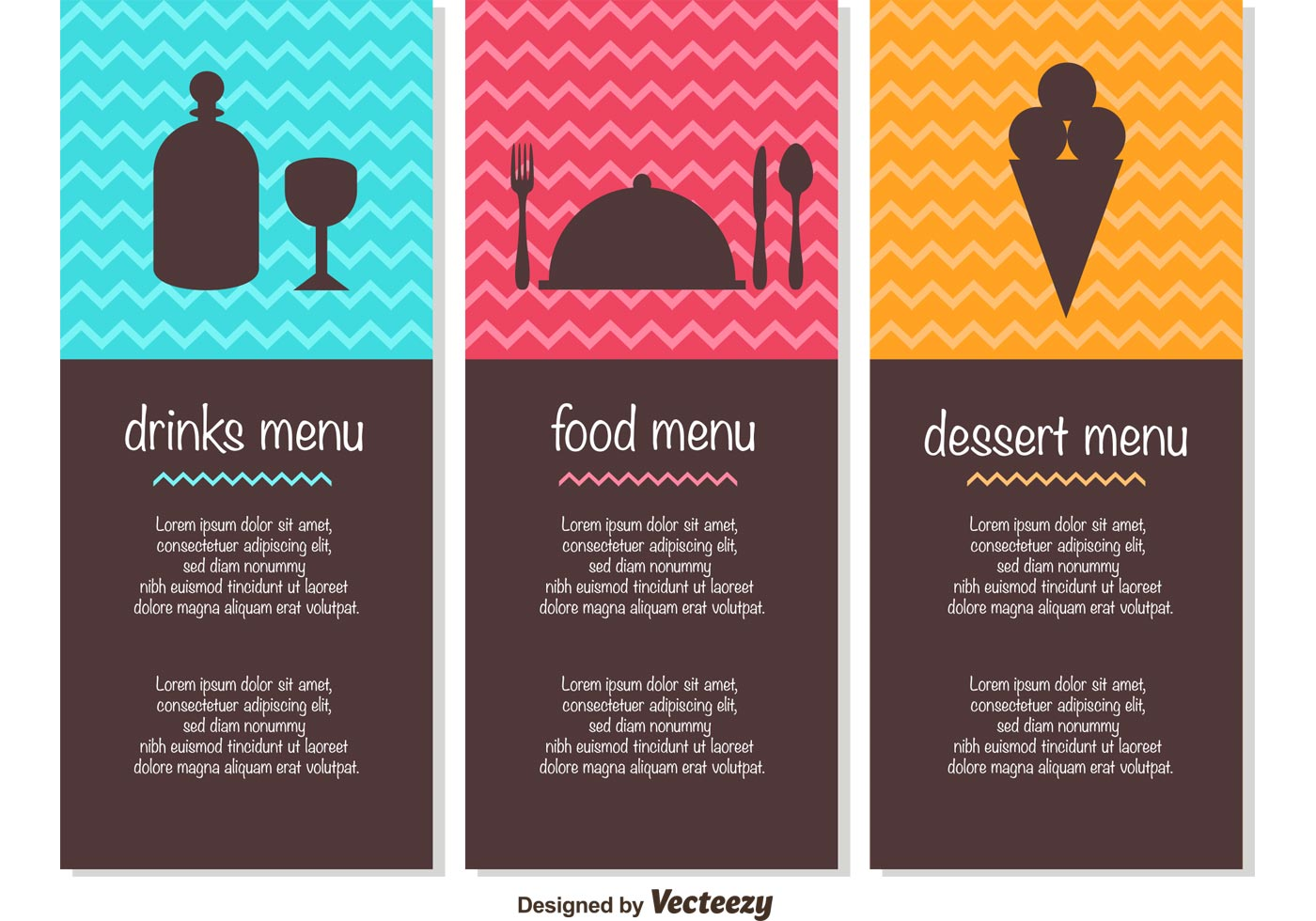 free menu template vectors