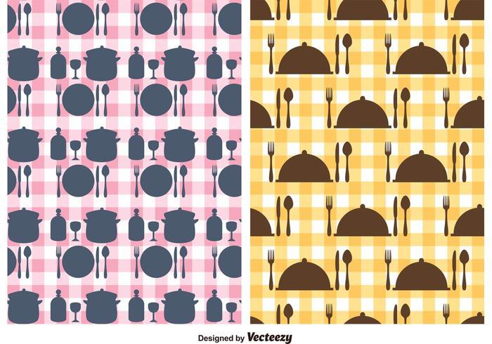 Gratis köksredskap vektor mönster