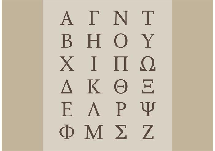 Greek Alphabet Vectors