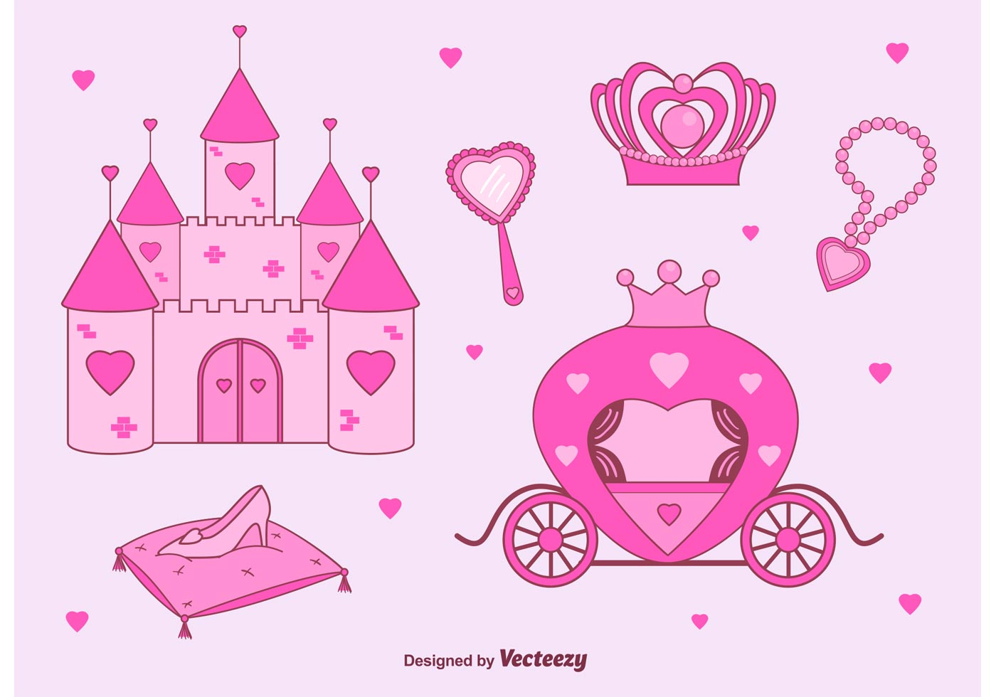 Princess Castle Vector Set - Download Free Vector Art ...