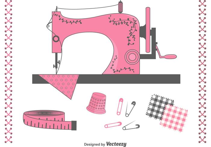 Free Vector Sewing Items Set