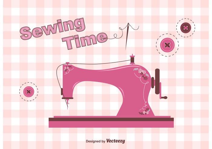 Free Vintage Sewing Machine Vector