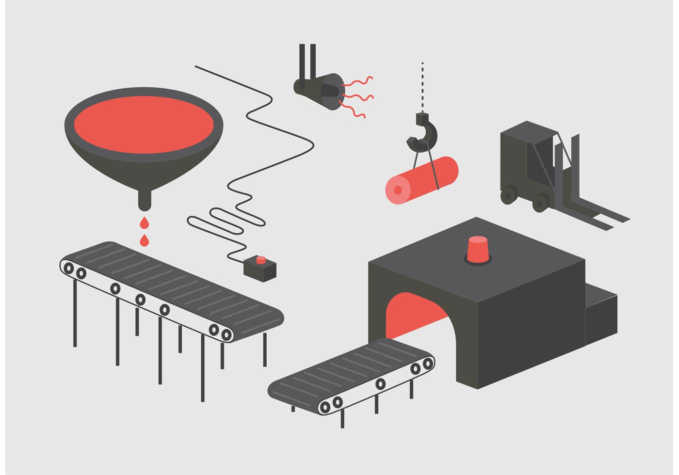 Factory Vector Illustration Download Free Vector Art