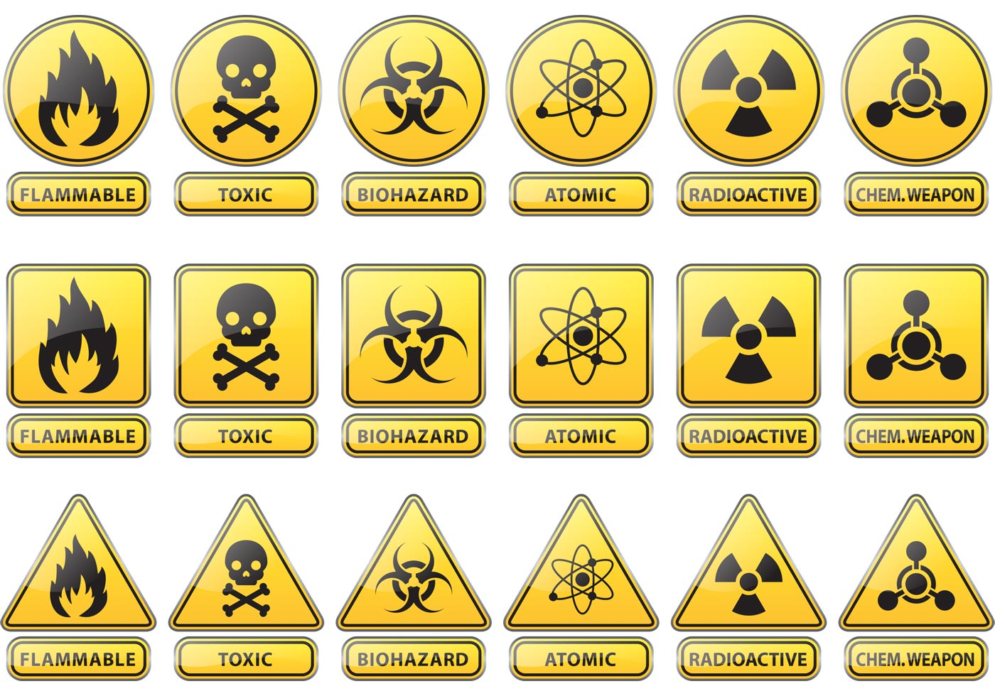 photograph regarding Quarantine Sign Printable referred to as Caution Indications No cost Vector Artwork - (106,005 Totally free Downloads)
