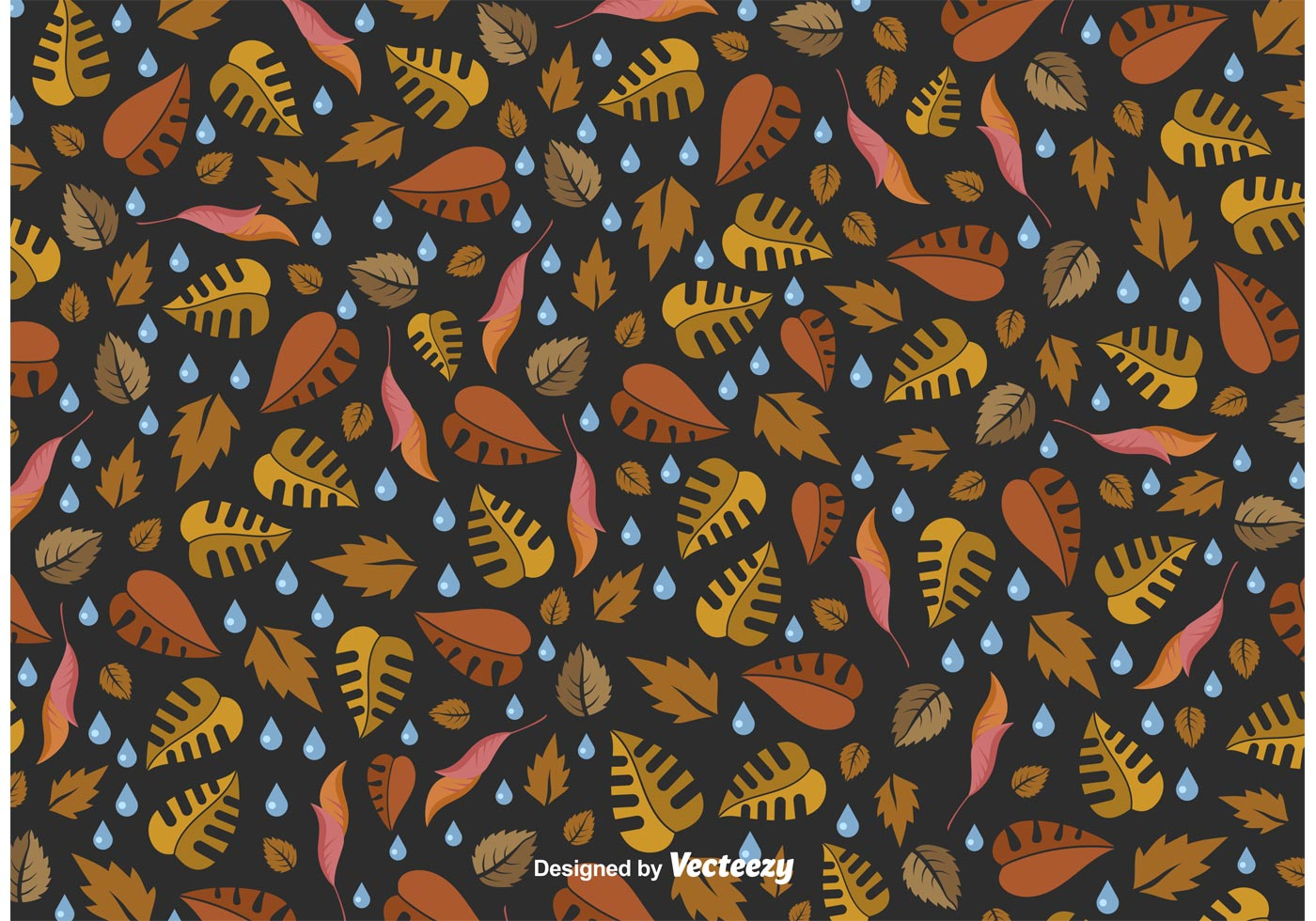 Rainy Fall Vector Pattern Download Free Vector Art