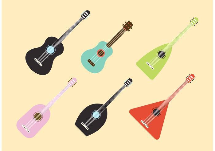 Ukulele musical intsrument vectors