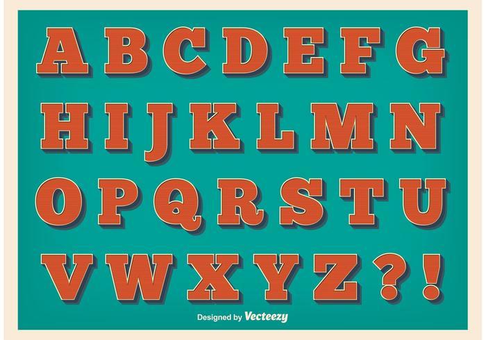Vintage stil alfabetet vektor