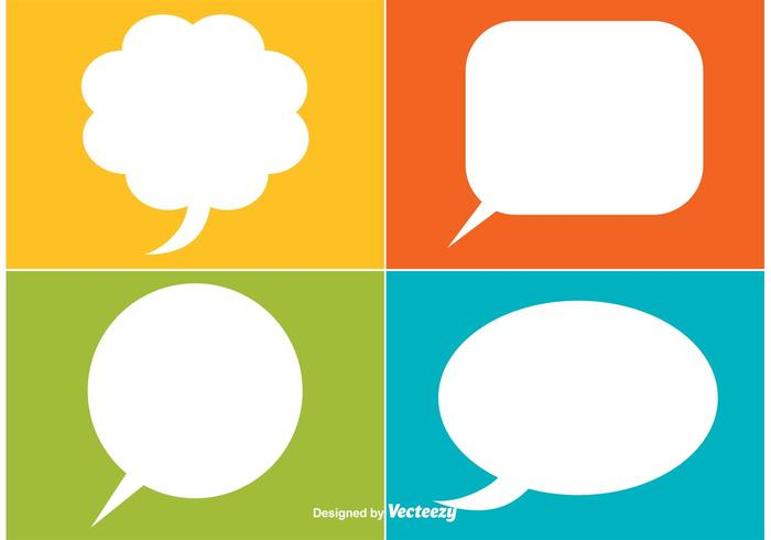 Speech Bubble Vector Labels
