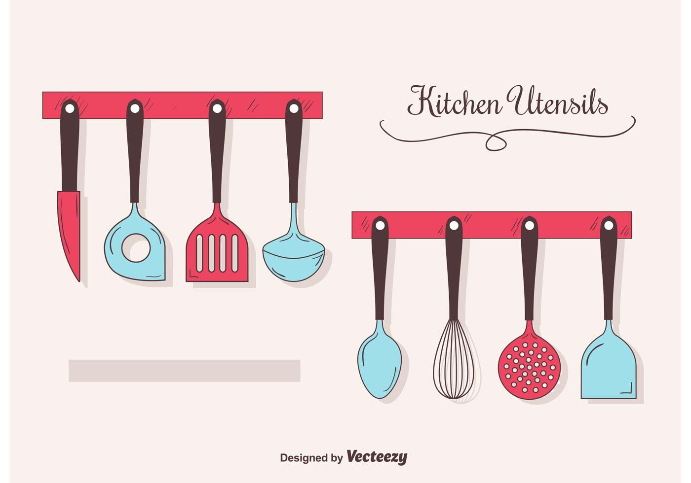hanging utensils vector pack download free vector art