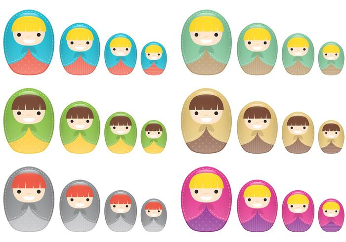 Little Nesting Doll Vector Matrioshkas