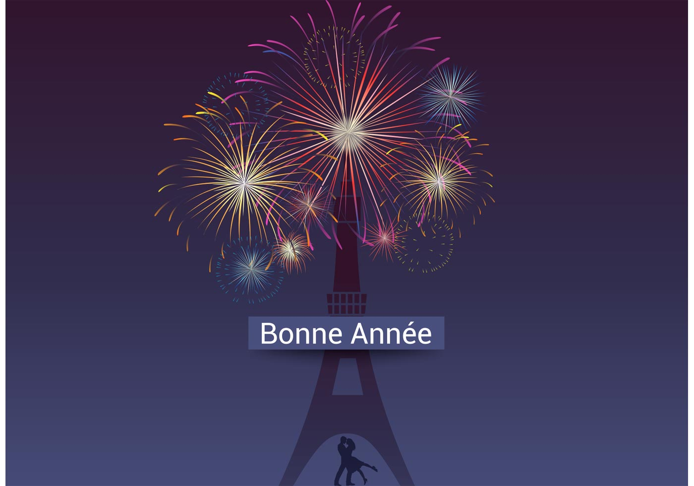 Year Calendar Vector : Free vector bonne année fireworks download