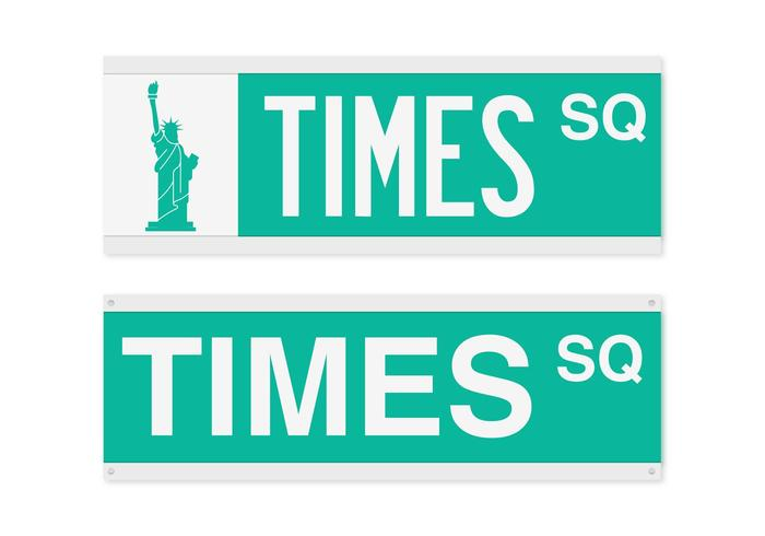 Free Times Square Street Sign Vector