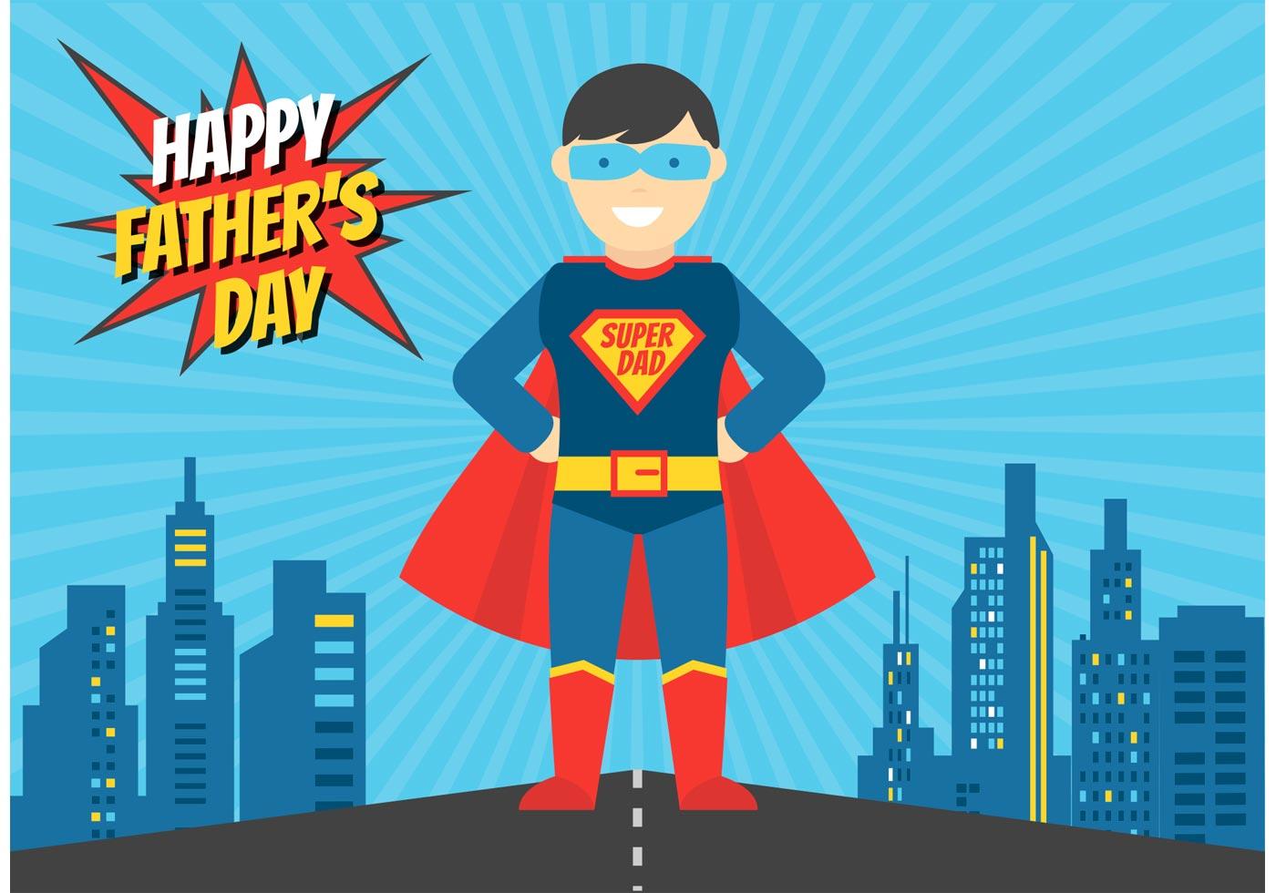 Superhero Dad Vector Illustration - Download Free Vector Art, Stock  Graphics & Images