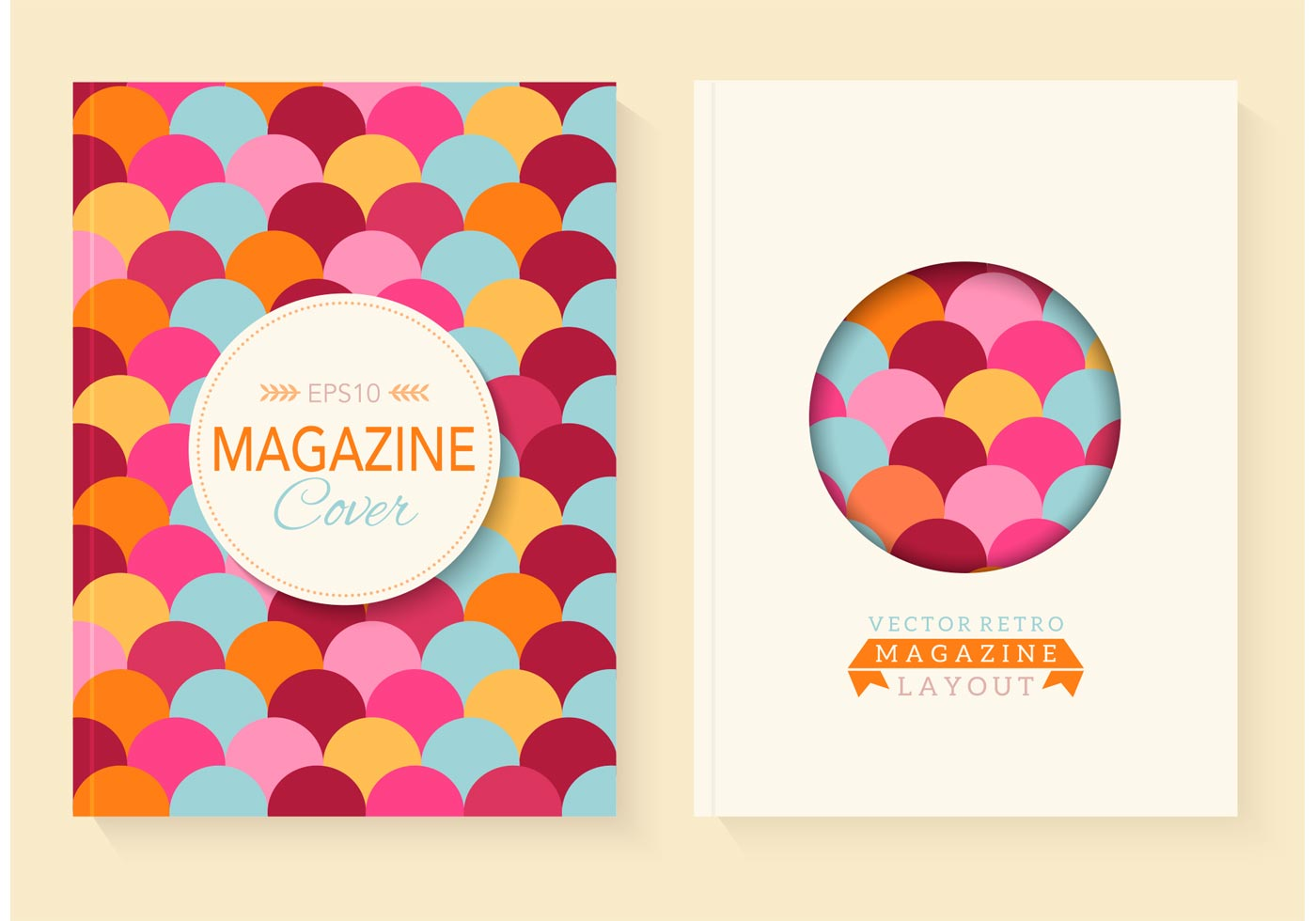 Kostenlose Retro Magazin Vector Covers - Kostenlose Vektor-Kunst ...