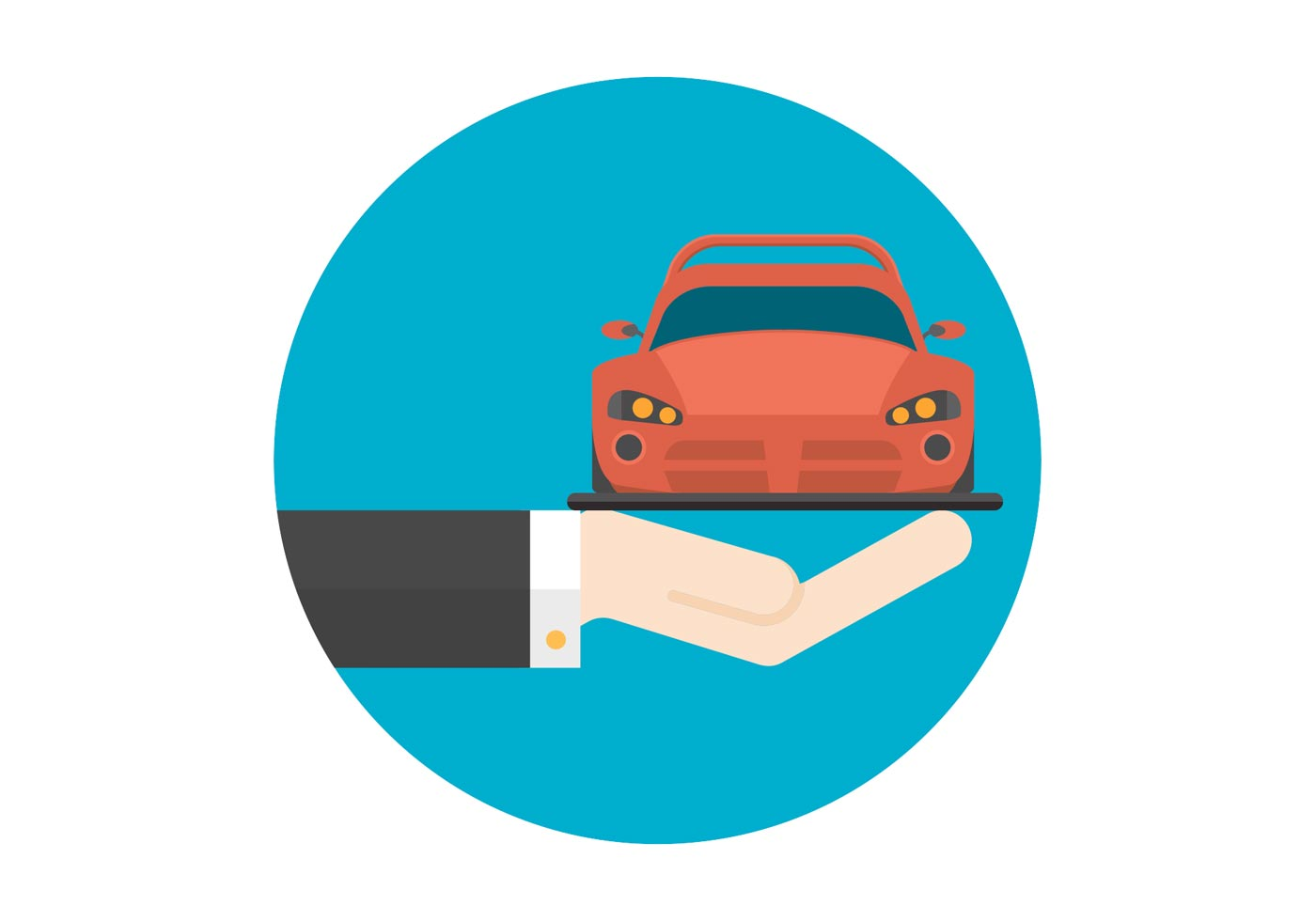 free flat hand and car vector icon download free vector traveling salesman clipart snake oil salesman clipart