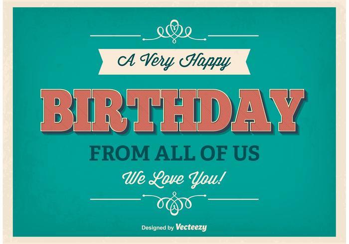 Poster di compleanno tipografico vettore