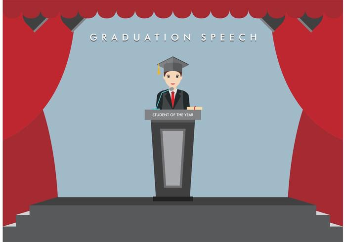 Graduation Speech Vector Free