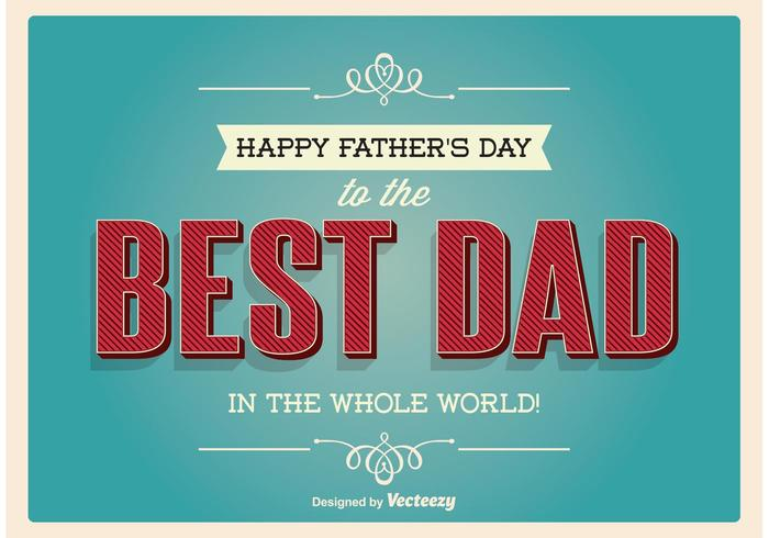 Typographic Father's Day Illustration